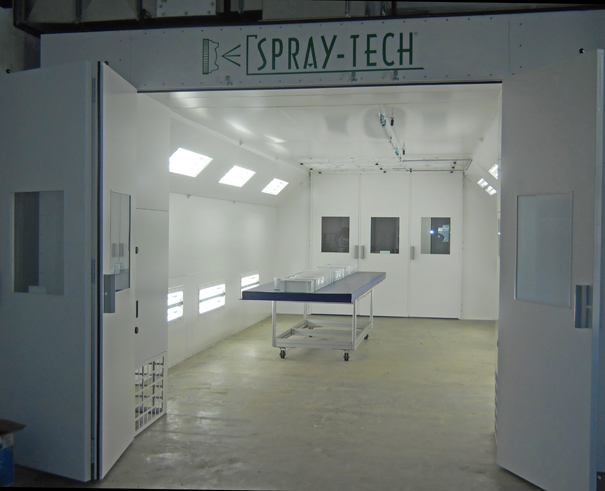 spraytech semi downdraft spray booth