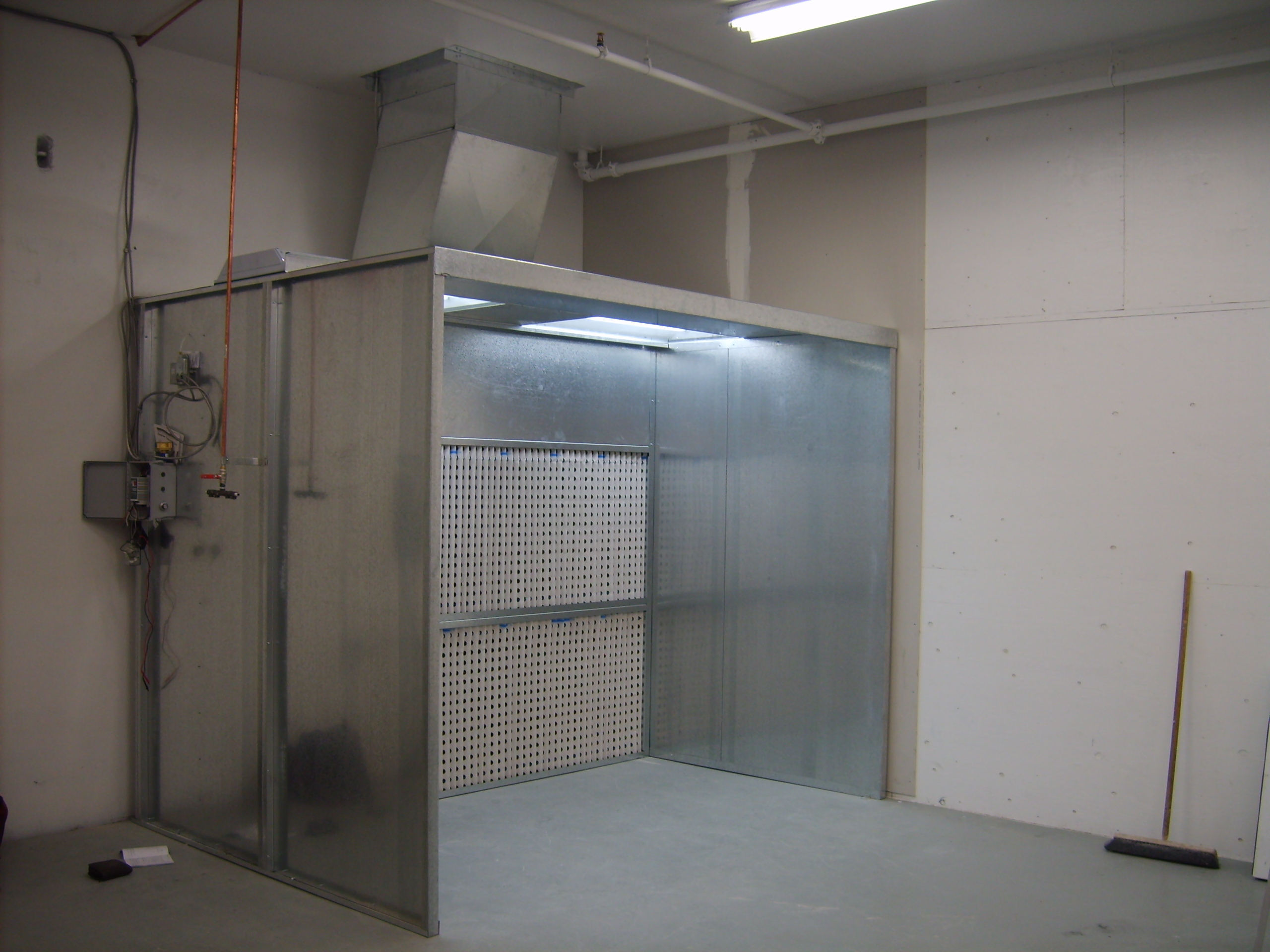 open face automotive paint booth