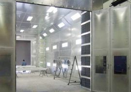 Cross Flow Paint Spray Booth
