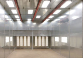 powder coating recovery booths