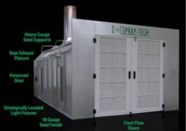 spraytech cross flow (front flow) spray booth