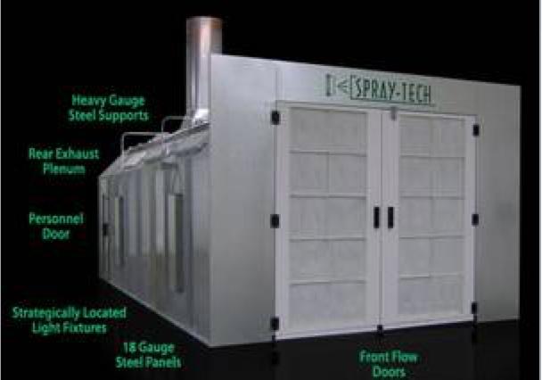 spraytech cross flow (front flow) spray booth